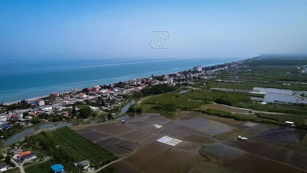 تصویر از زمین در شهر نشتارود با موقعیت مناسب ویلاسازی